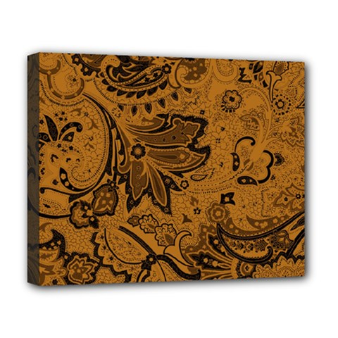 Art Traditional Batik Flower Pattern Deluxe Canvas 20  X 16   by BangZart