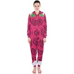 Floral Heart Hooded Jumpsuit (ladies)