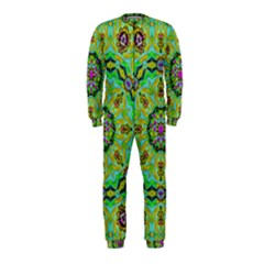 Golden Star Mandala In Fantasy Cartoon Style Onepiece Jumpsuit (kids) by pepitasart