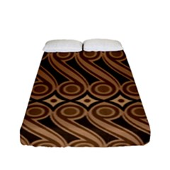 Batik The Traditional Fabric Fitted Sheet (full/ Double Size) by BangZart