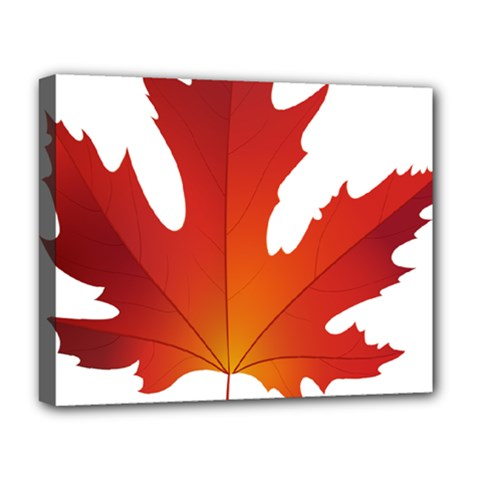 Autumn Maple Leaf Clip Art Deluxe Canvas 20  X 16   by BangZart