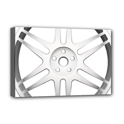 Wheel Skin Cover Deluxe Canvas 18  X 12   by BangZart