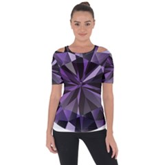 Amethyst Short Sleeve Top by BangZart