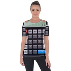 Calculator Short Sleeve Top by BangZart