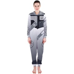 Computer Hard Disk Drive Hdd Hooded Jumpsuit (ladies)
