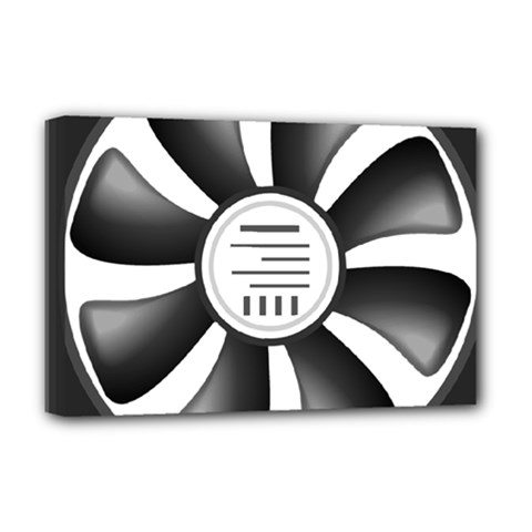 12v Computer Fan Deluxe Canvas 18  X 12   by BangZart