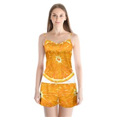 Orange Slice Satin Pajamas Set by BangZart