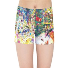 Multicolor Anime Colors Colorful Kids Sports Shorts by BangZart