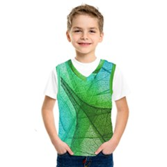 Sunlight Filtering Through Transparent Leaves Green Blue Kids  Sportswear by BangZart