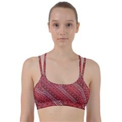 Red Batik Background Vector Line Them Up Sports Bra