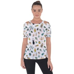 Insect Animal Pattern Short Sleeve Top by BangZart