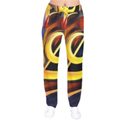 Art Oil Picture Music Nota Drawstring Pants by BangZart