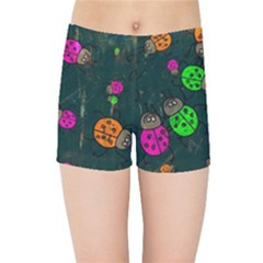 Abstract Bug Insect Pattern Kids Sports Shorts by BangZart