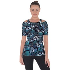 Old Spiderwebs On An Abstract Glass Short Sleeve Top by BangZart