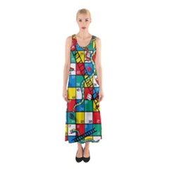 Snakes And Ladders Sleeveless Maxi Dress