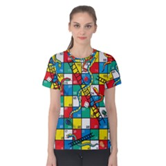 Snakes And Ladders Women s Cotton Tee