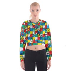 Snakes And Ladders Cropped Sweatshirt