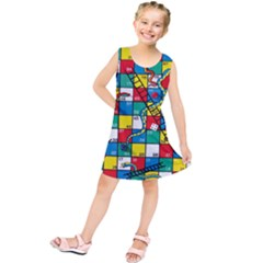 Snakes And Ladders Kids  Tunic Dress
