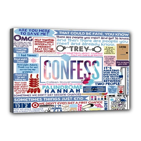 Book Collage Based On Confess Canvas 18  X 12  by BangZart