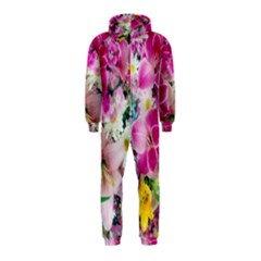 Colorful Flowers Patterns Hooded Jumpsuit (kids) by BangZart