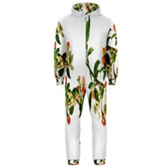 Apple Branch Deciduous Fruit Hooded Jumpsuit (men)