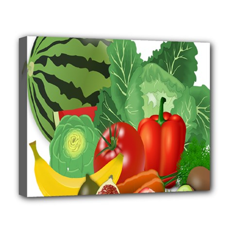 Fruits Vegetables Artichoke Banana Deluxe Canvas 20  X 16   by Nexatart