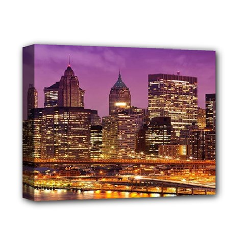 City Night Deluxe Canvas 14  X 11  by BangZart