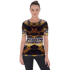 Textures Snake Skin Patterns Short Sleeve Top by BangZart