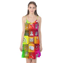 Colorful 3d Social Media Camis Nightgown by BangZart