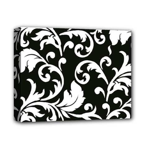 Vector Classicaltr Aditional Black And White Floral Patterns Deluxe Canvas 14  X 11  by BangZart