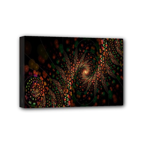 Multicolor Fractals Digital Art Design Mini Canvas 6  X 4  by BangZart