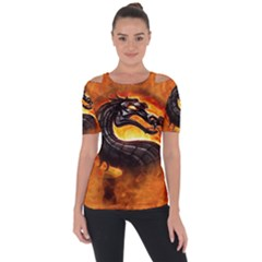 Dragon And Fire Short Sleeve Top by BangZart