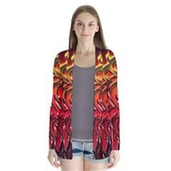 Dragon Fire Drape Collar Cardigan by BangZart
