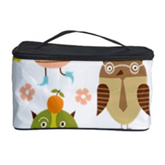 Cute Owls Pattern Cosmetic Storage Case by BangZart