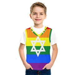Gay Pride Israel Flag Kids  Sportswear by Valentinaart