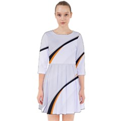 Gallery For  Abstract White Smock Dress by amphoto