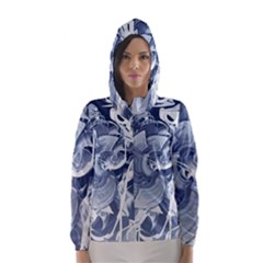 Abstraction Drawing Imagination Pattern Light Brightness Hooded Wind Breaker (women) by amphoto