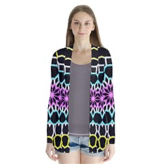 Colored Window Mandala Drape Collar Cardigan by designworld65