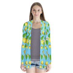 Lemon Pattern Drape Collar Cardigan by Valentinaart