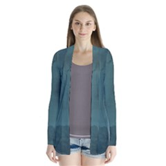 Ombre Drape Collar Cardigan by ValentinaDesign