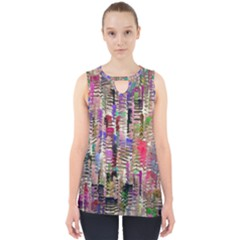 Colorful Shaky Paint Strokes                              Cut Out Tank Top by LalyLauraFLM