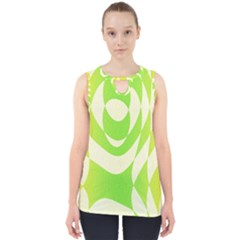 Green Shapes Canvas                              Cut Out Tank Top by LalyLauraFLM