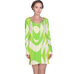 Green Shapes Canvas                              Nightdress
