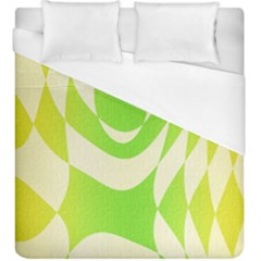 Green Shapes Canvas                               Duvet Cover (king Size)