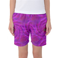 Pink Abstract Background Curl Women s Basketball Shorts by Nexatart