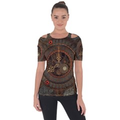 Steampunk, Awesome Clocks Short Sleeve Top by FantasyWorld7