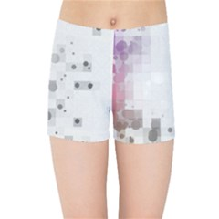 Squares Colorful Spots  Kids Sports Shorts by amphoto