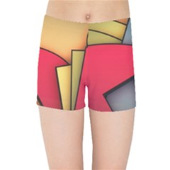 Patterns Lines Surface  Kids Sports Shorts by amphoto