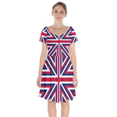 Alternatively Mega British America Short Sleeve Bardot Dress by Mariart
