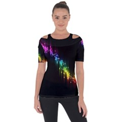 Illustration Light Space Rainbow Short Sleeve Top by Mariart
